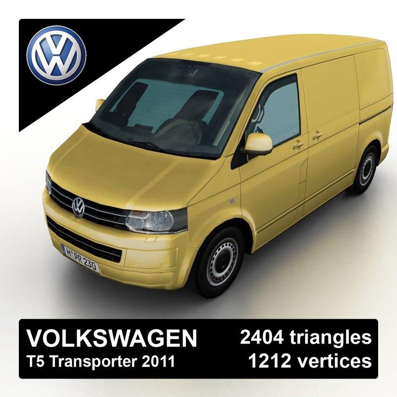 3d 2011 volkswagen t5 transporter model