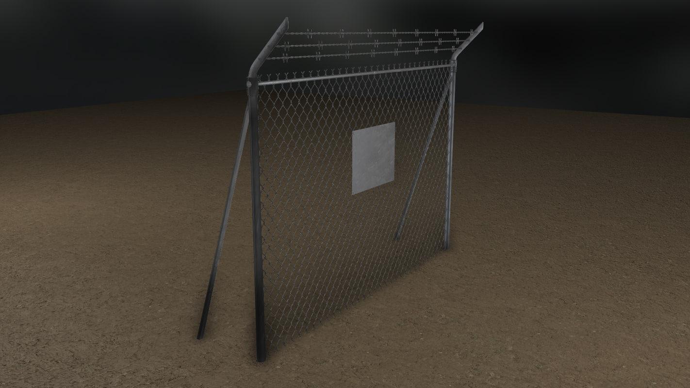 tileable wire fence 3d obj