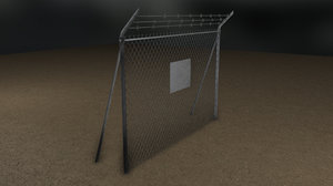 tileable wire fence 3d obj
