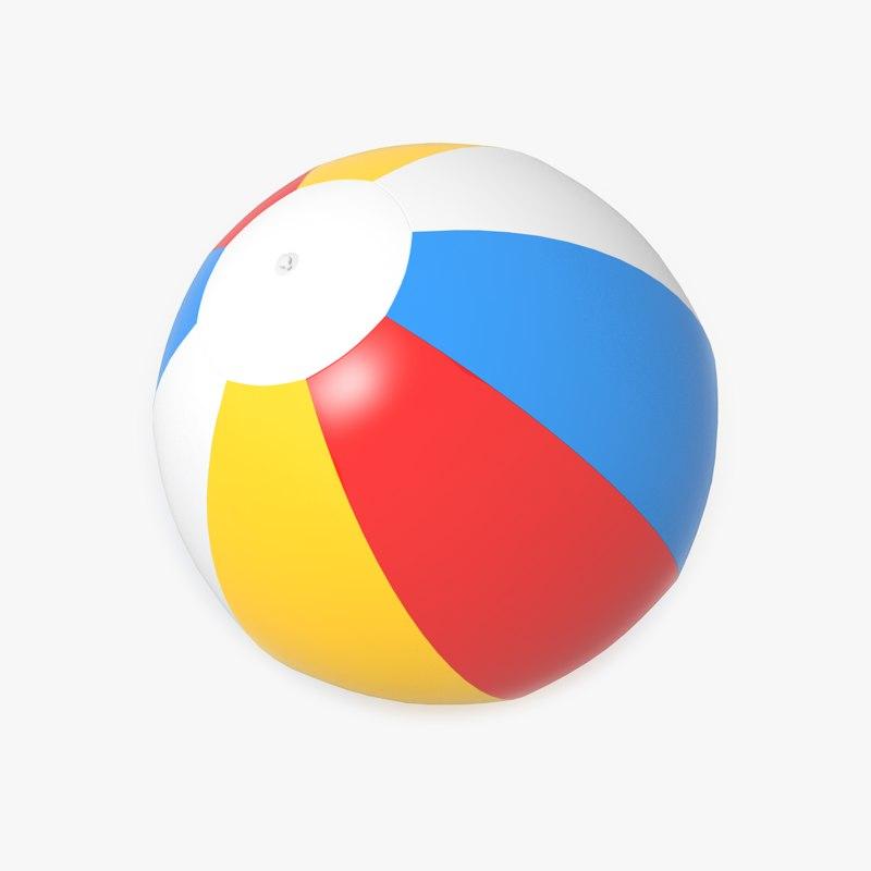 3d model of beach ball