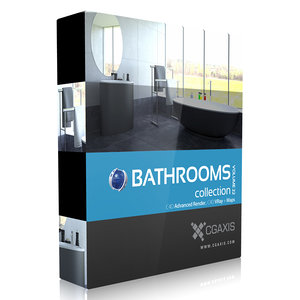 3d volume 22 bathrooms model