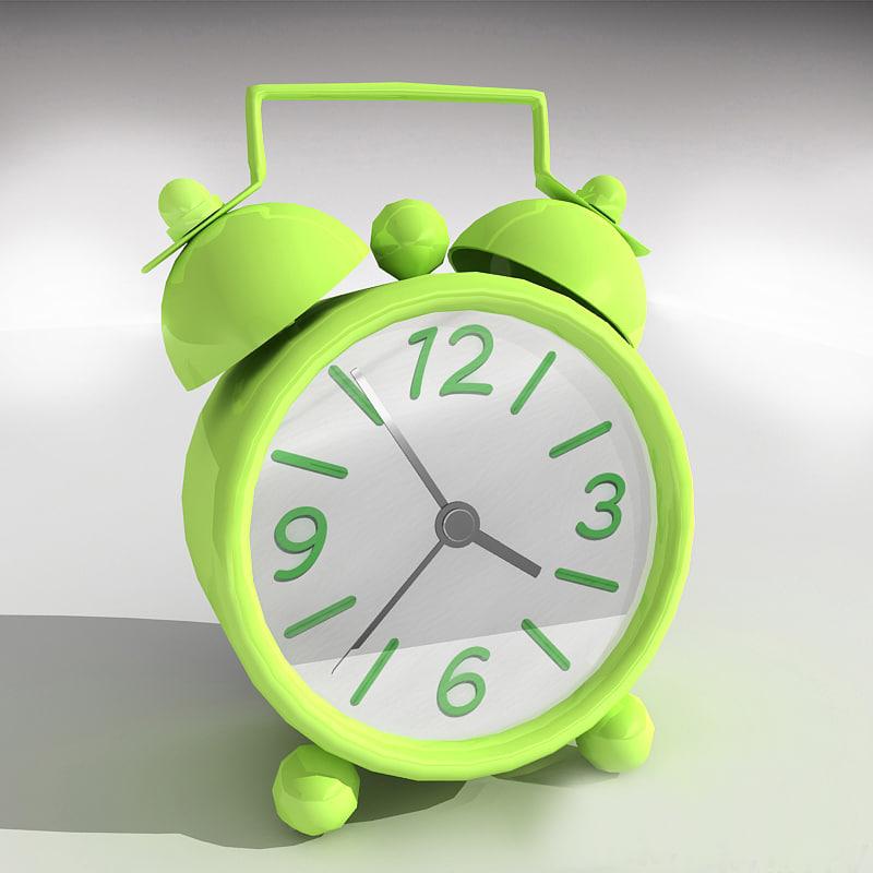 maya cartoon clock