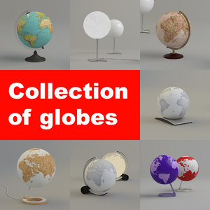 3d model globes circle q