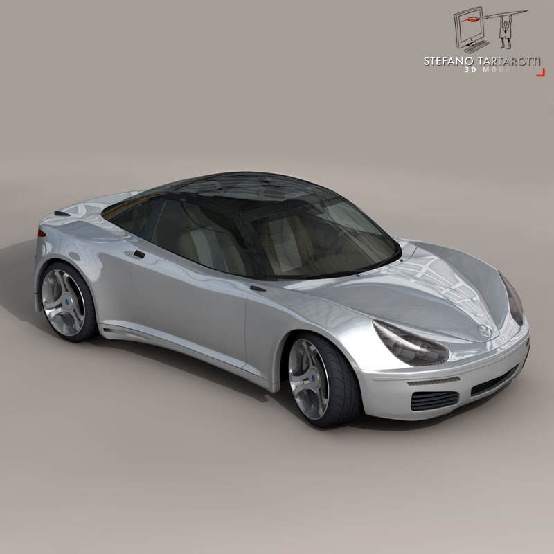 generic electric concept sports car 3d model