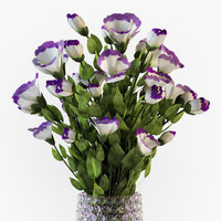 Eustoma flowers in vase