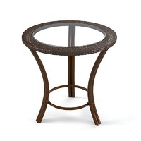 Genziana Tavolino Round gass wicker table