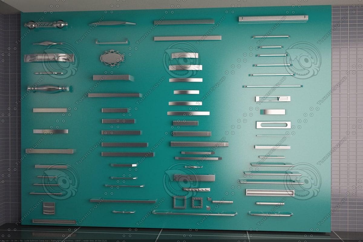 3d handles model
