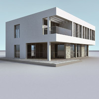 3ds max modern building