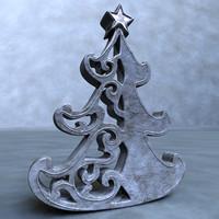 obj christmas tree sculpture