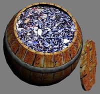 wooden barrel mytilus 3d max