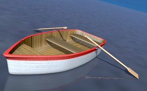 3ds max row boat
