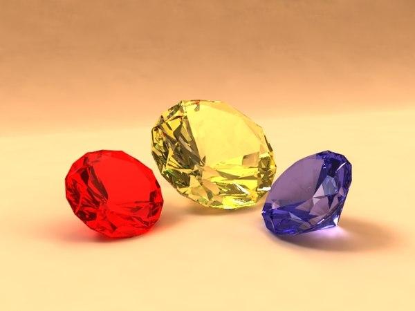 free diamonds 3d model