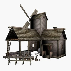 3d model sawmill ready