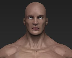 realistic male 3d model