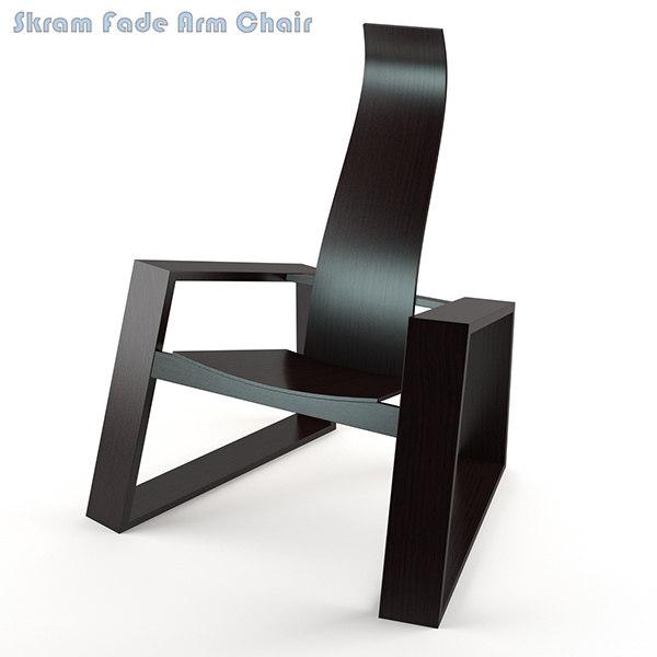 3d model skram fade arm chair