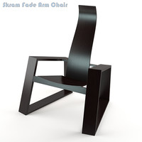 3d model skram fade arm chair