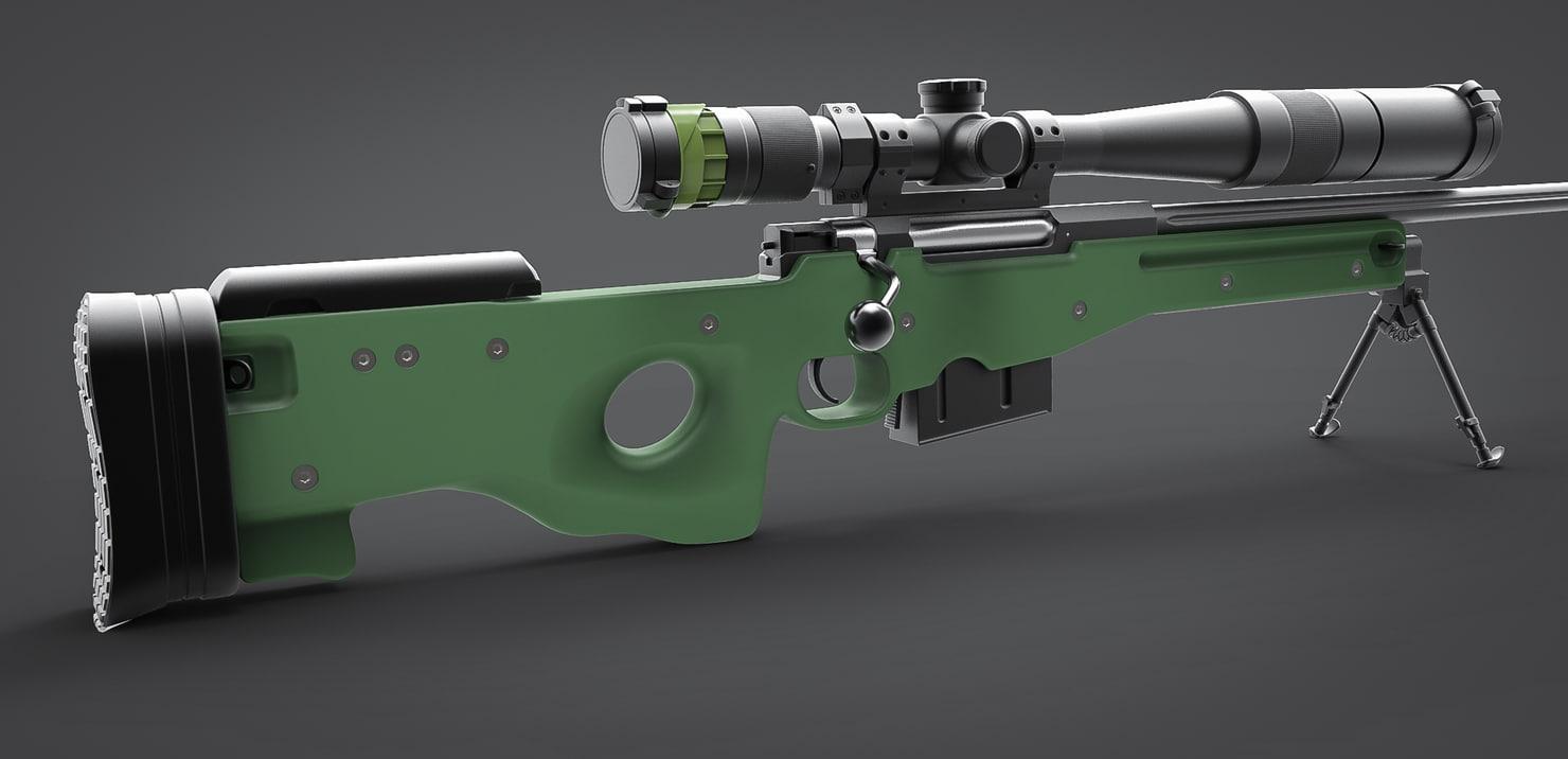 modern sniper rifles obj