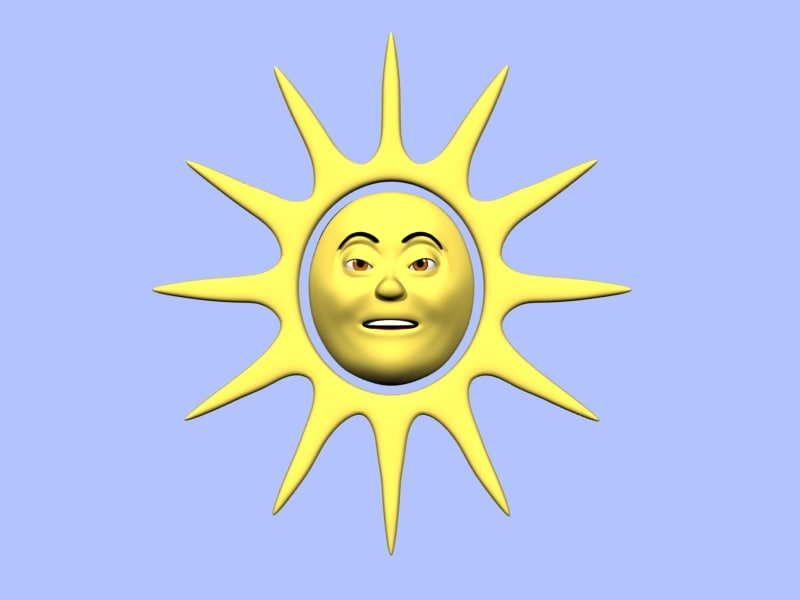 lwo cartoon sun character animation