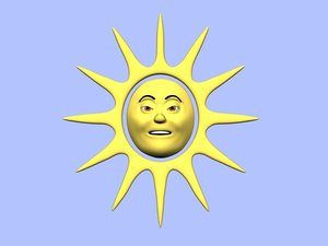 lwo cartoon sun character animation
