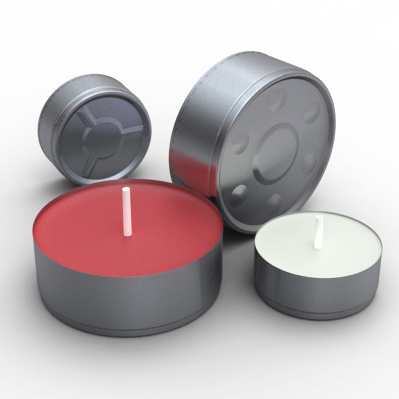 tea light candles 3d model