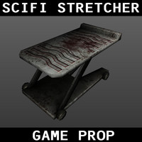 scifi stretcher obj free