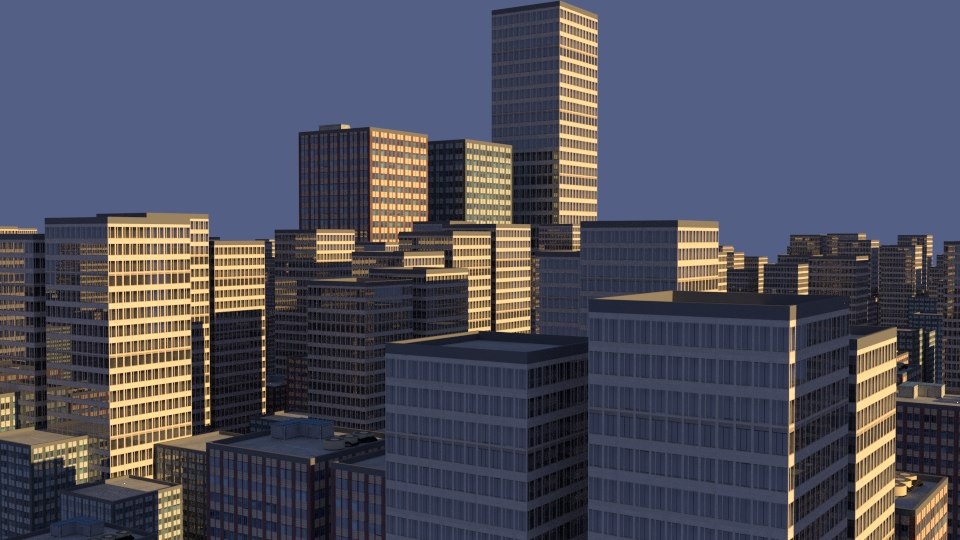 3d city skyscrapers buildings model