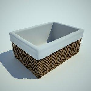 3d model wattled basket