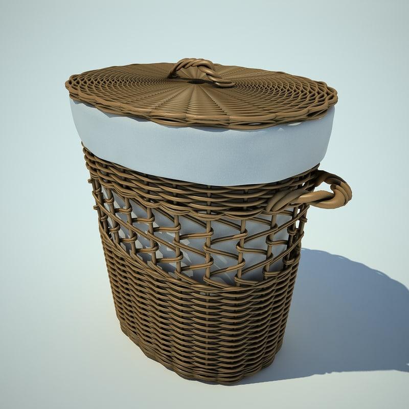 3d wattled basket