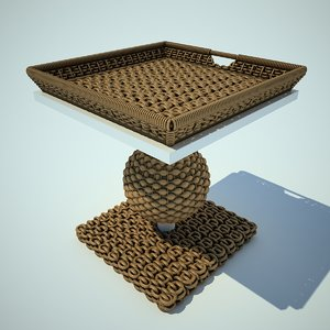 3d wattled table model