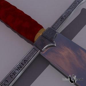 medieval sword catholic kings 3d obj
