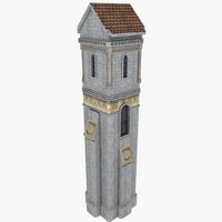 Castle Manor Tower 3 Minaret lighthouse house detail low poly exotic persian church cathedral old palace asylum monument history classical ancient historical vintage architecture architectural Rome Russia religion religious wonder memorial