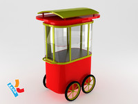 3ds max cart push pushcart