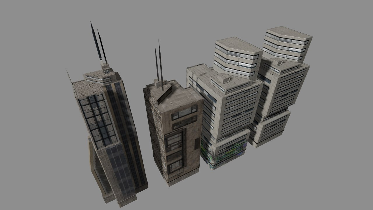 city skyscrapers 3d model