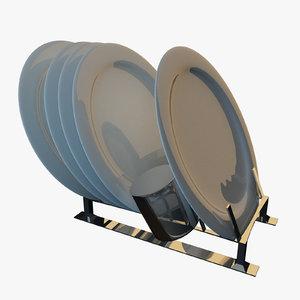 dish holder 3d 3ds