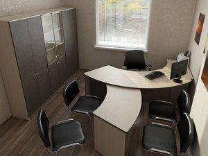 3d office design furniture model