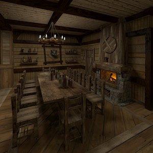 interior house hunter 3d model