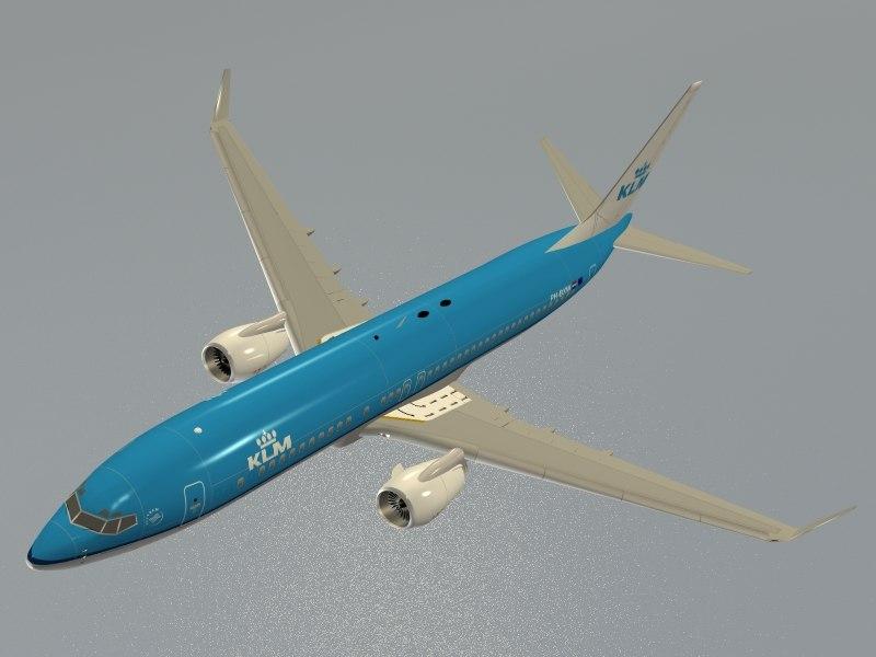 obj boeing 737-800 klm