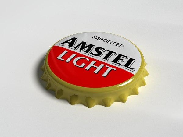 3d model amstel bottle tin cap