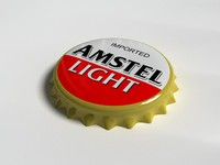 3d model amstel bottle tin cap
