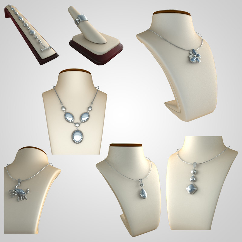 3d set jeweleries