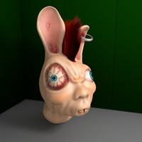 demented bunny 3d model