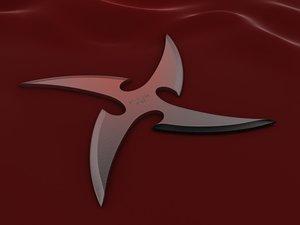 3dsmax 4 point curved shuriken