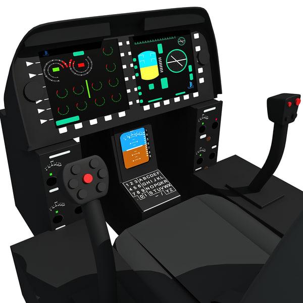 3d helicopter cockpit