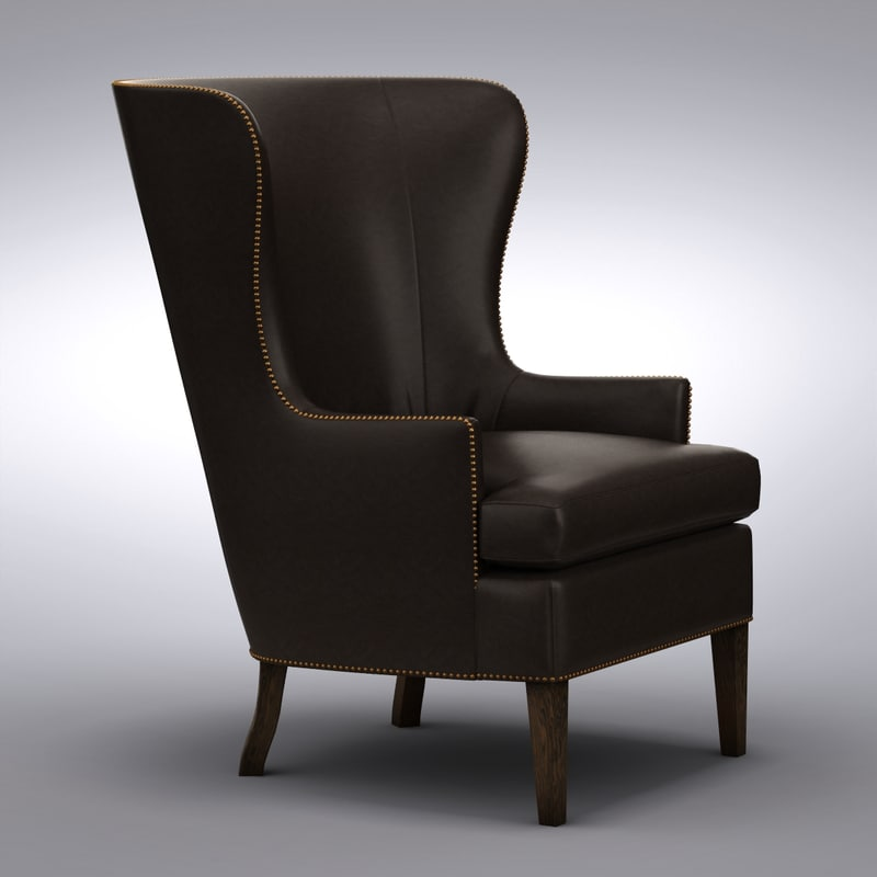 Crate And Barrel   Dylan Leather Chair