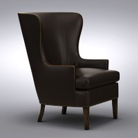 Crate and Barrel - Dylan Leather Chair