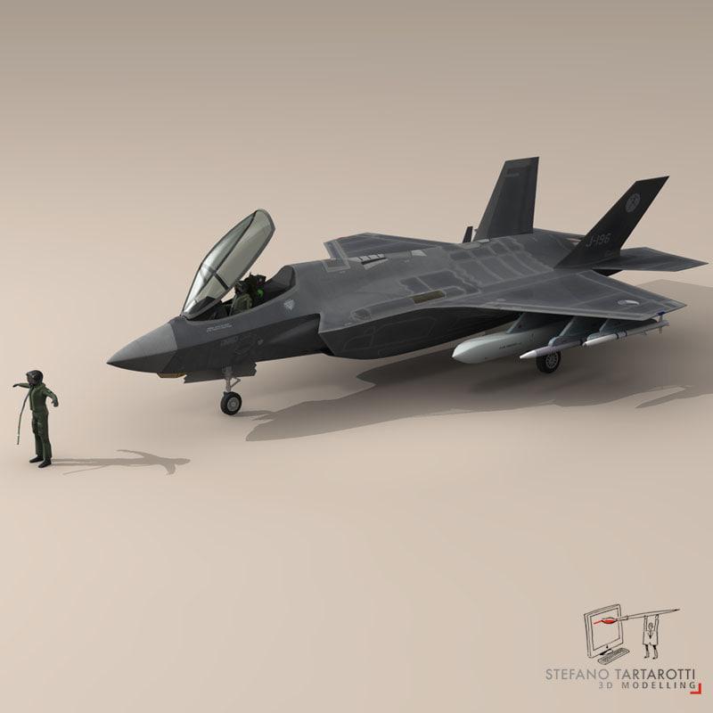 pilot - air force 3d model