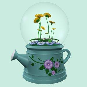 flower globe 3d model