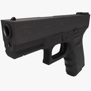 lightwave glock 19 low-poly