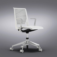 Crate and Barrel - Haworth Very White Office Chair