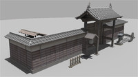 fbx gate temple japan
